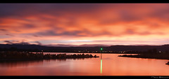 Sunset @ Lake Illawarra (Taha Elraaid) Tags: sunset lake canon back image australia nsw taha wollongong illawarra 500d photography2011
