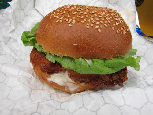 Blue Smoke's Fried Chicken Sandwich