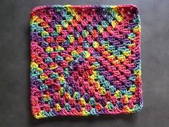 Peaches & Creme rainbow ombre crochet washcloth (crochetbug13) Tags: crochet cotton project8 gulfoilspill crocheted crocheting crochetwashcloth crochetdishcloth