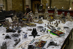 Nids versus Space Wolves, Grey Knights and Chaos Marines (jontlaw) Tags: world nottingham grey pain chaos space games knights workshop warhammer marines fortress wolves tyranids