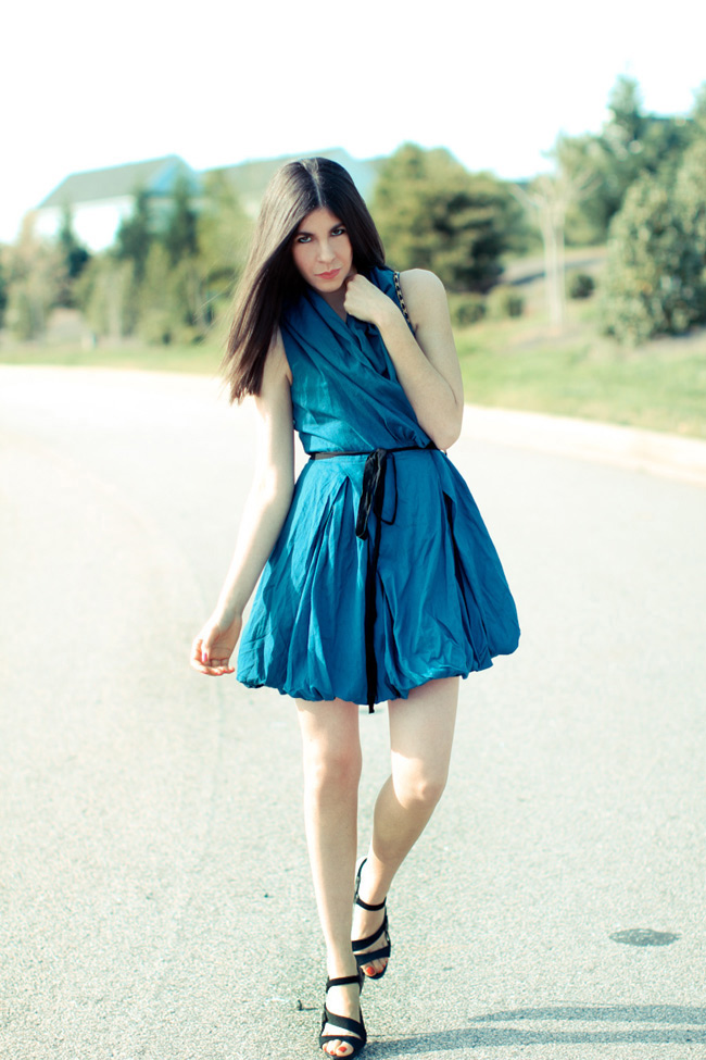 Dress, Fashion, LAMB sandals, Vintage Chanel bag