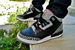 Air Jordan III - Black Cement (Ma Got Sole) Tags: chicago black basketball michael nikon forsale air iii mj bulls nike jordan dslr 2008 patentleather nikeair jumpman cdp jordan3 blackcement jordaniii shoesforsale onfeet wdywt elephantprint jordanair d3100 nikond3100 jordanforsale