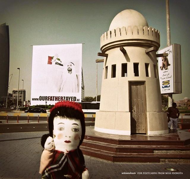 Sandy Iggy and the late UAE president Sheikh Zayed Al Nahyan