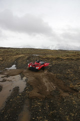 Stuck (Lauren Bansemer) Tags: field iceland mud stuck quad atv fourwheeler quicksand borgarnes