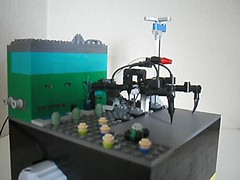 Attack on Micro City (LegoKiwi) Tags: city eye lego contest attack helicopter technic micro scifi laser motorised giantalian