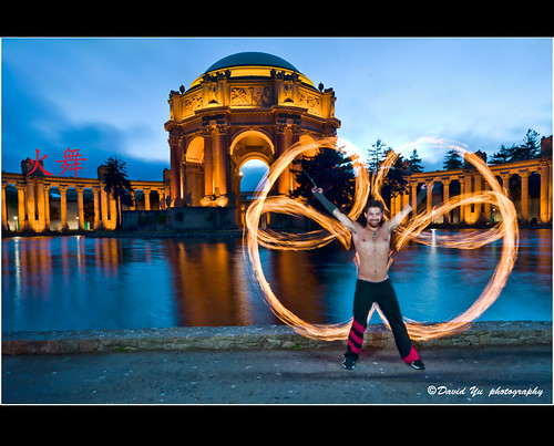 Fire Dancing At Palace Fine Art In San Francisco 火舞 A Photo On