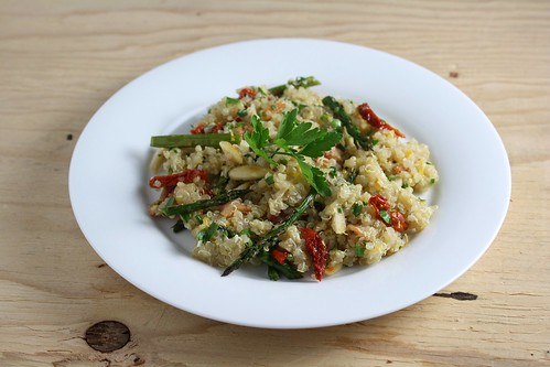 Bacon Quinoa with Almonds and Herbs