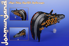 """JORMUNGAND"" Alien hive stealth destroyer (Shamisenfred) Tags: lego alien stealth stardestroyer microspacetopia"