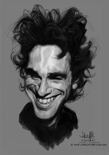 Digital caricature of Daniel Day Lewis