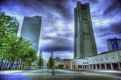 Minato Mirai HDR (shinnygogo) Tags: 3x 2011 april freehand hdr landmark minatomirai photomatix tonemapped yokohama