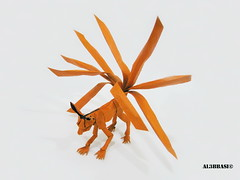 Kyuubi (Al3bbasi.) Tags: origami fantasy naruto kyuubi ninetailedfox al3bbasi