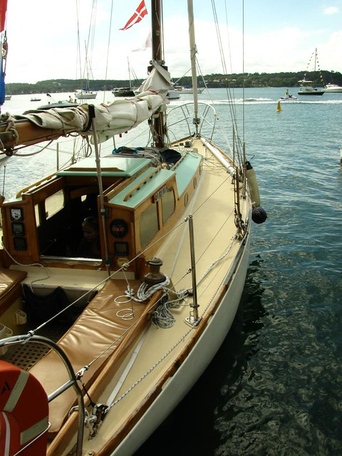 Classic boat repainted and varnished by Michael Storer in Sydney a decade ago.  Time for more varnish!