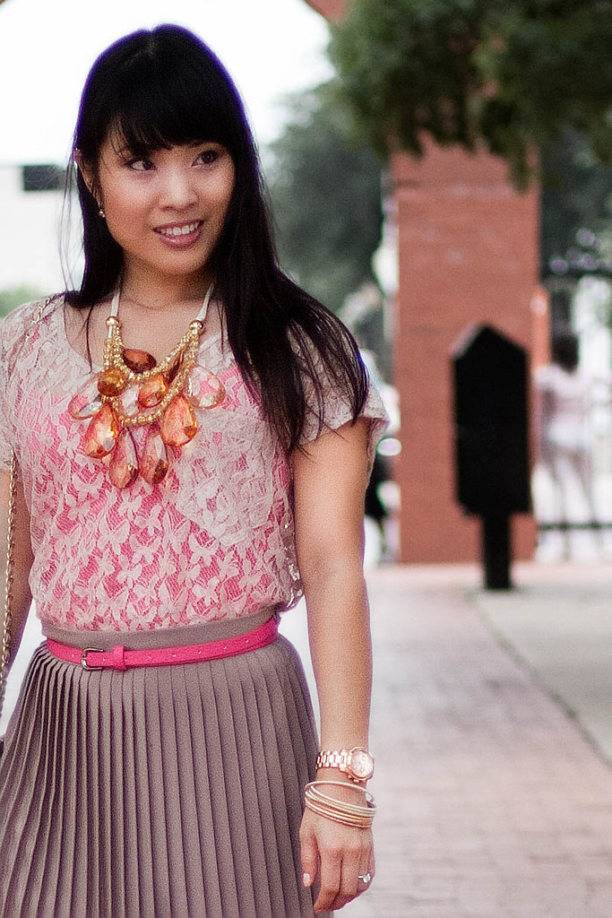 forever 21 lace top express pink tank american apparel pleated skirt aldo withey michael kors rose gold watch mk5430 yesstyle beige quilted purse amrita singh teteo necklace