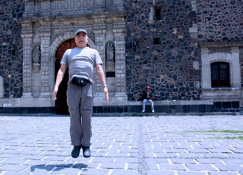 Mario Levitating in Front of Sto. Tomas Church in Mexico City