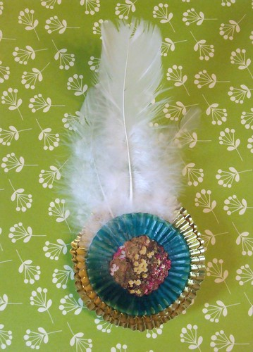 fancy feather badge