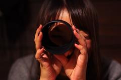 Correct use of the Camera Hood (GIZUC) Tags: camera people girl japan star pentax 55mm nagoya  hood  aichi k5   da da55
