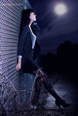 Katie Claire (Ryan Brann) Tags: moon night clouds photography claire florida ryan bees alien kaite plm brann strobist