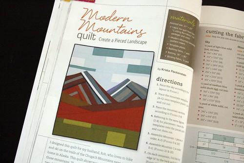 Modern Mountains quilt