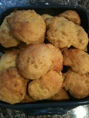 Cornbread biscuits ready for the table