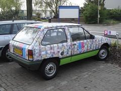 Vianen: 1988 Opel Corsa with Euro Bills (harry_nl) Tags: netherlands bills euro 1988 nederland opel corsa vianen 2011 ocar