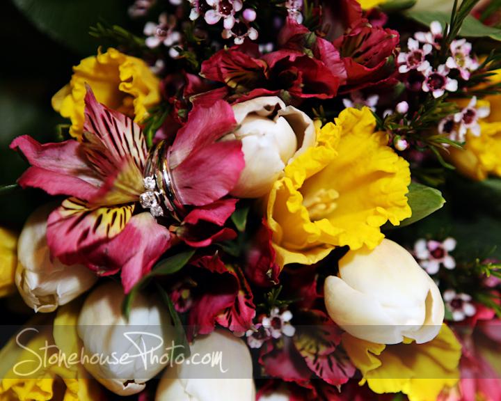 Rings hidden in flowers