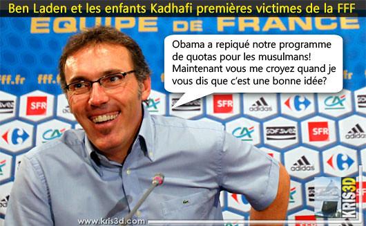 Ben Laden et les enfants Kadhafi premières victimes de la FFF