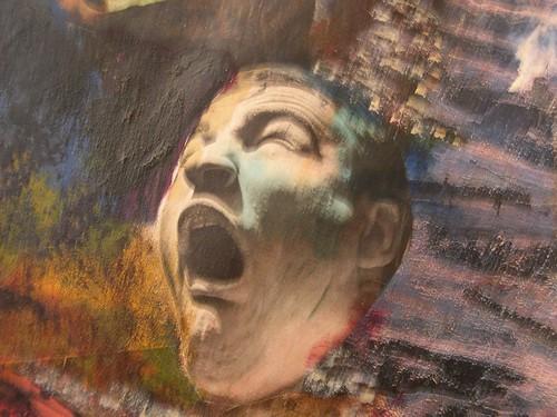 """R.Ychai_collage_Le cri de l Enfer_"" by R. Ychai"