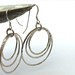 Trio hammered hoop earrings