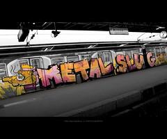 Metal Slug Train (Marc Benslahdine) Tags: paris cutout graffiti garedelest sncf lightroom lr3 metalslug tamronspaf1750mmf28xrdiii canoneos400d marcopix tripax marcbenslahdine sweetselectivecolor wwwmarcopixcom wwwfacebookcommarcopix marcopixcom