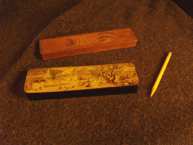 Two small pencil boxes...
