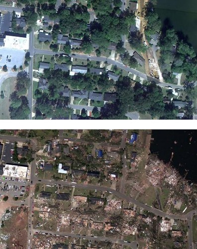 Tuscaloosa Alabama Tornado Before and After Aerial Images