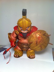 """prepare for glory"" (MR DEN) Tags: tequila custom spartan muttpop sculpt mixedmedium mrden"