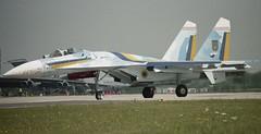 Sukhoi SU-27 Flanker (Nigel Musgrove-2.5 million views-thank you!) Tags: force air 1997 27 ukrainian raf 57 fairford riat sukhoi su27 flanker