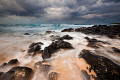 Stormy Skies, Shipwreck Beach (KPieper) Tags: storm beach rain clouds sunrise hawaii waves kauai poipu shipwreckbeach kpieper