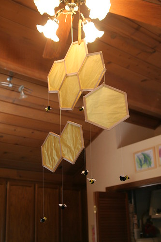 Honeycomb and Bee Mobile Project