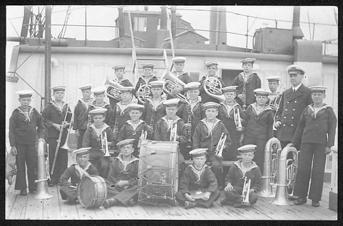 The band of the training ship clio