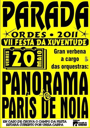 Ordes 2011 - Festa da Xuventude de Parada  - cartel