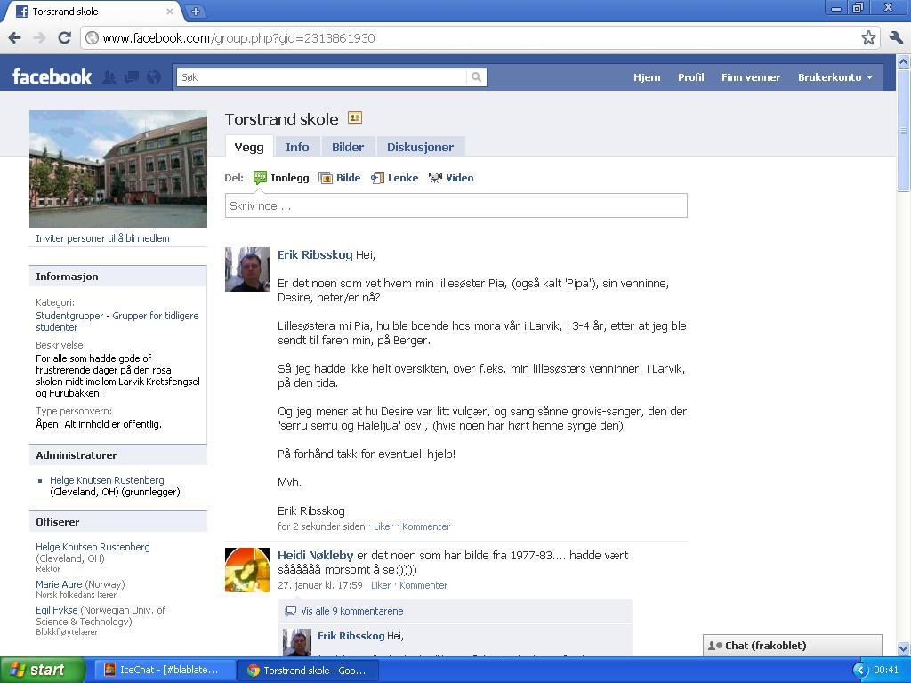 ny melding facebook side torstrand skole