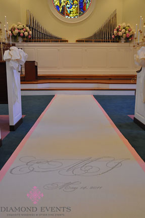 Aisle Runner by Original Runner Company at Hylton Chapel