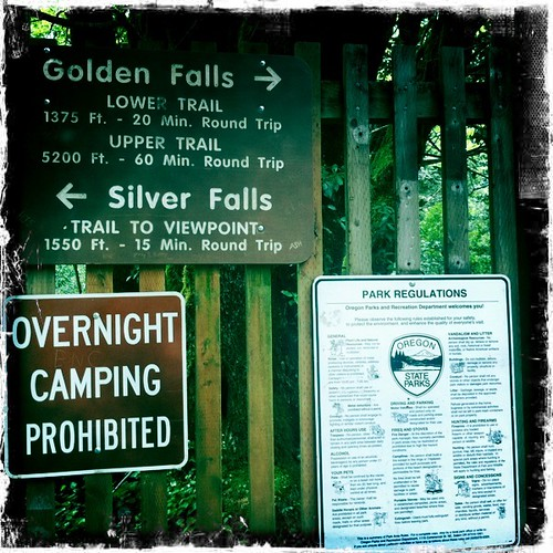 Golden and Silver Falls State Park in Coos County, Oregon