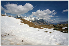 Above (Katka S.) Tags: park blue sky cloud snow mountains alps nature landscape switzerland spring track may hills trail alpine national valley gornergrat zermatt wallis valais