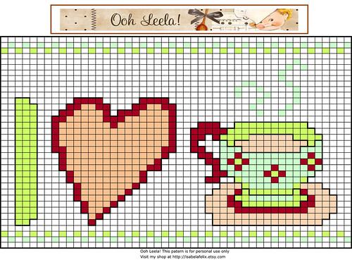 Free cross stitch patern - Wild Olive giveaway