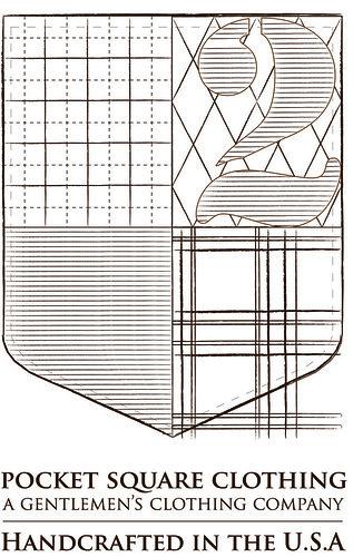 pocket square logo stencil