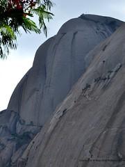 Savandurga - A Huge Monolith (mahesh m india) Tags: india rock trek temple nikon bangalore single huge nikkor karnataka veera monolith mahesh mysore largest 18105 savandurga narasimha d90 magadi ramanagaram swamy savandi bhadreshwara