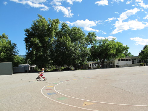 unplugged sunday:  on the school grounds