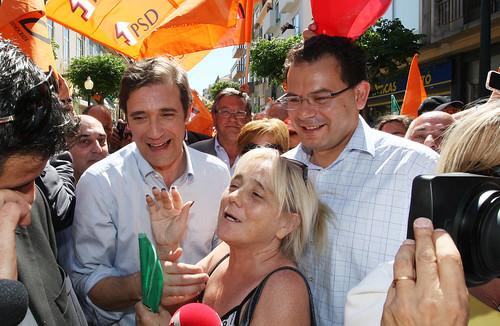 Pedro Passos Coelho arruada em Espinho