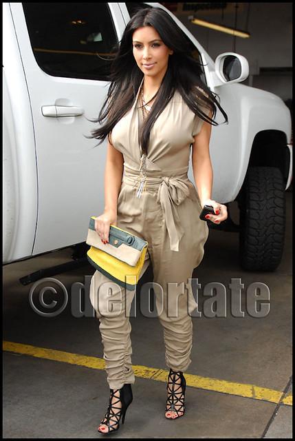 Kim Kardashian toting Balenciaga Envelope Clutch