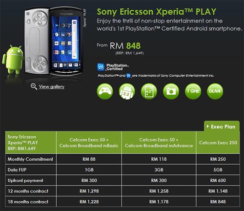Celcom Exec - Sony Ericsson Xperia PLAY