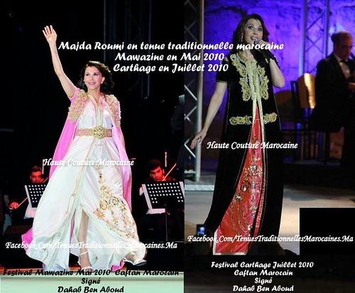 Majida El Roumi Porte un Caftan Marocain