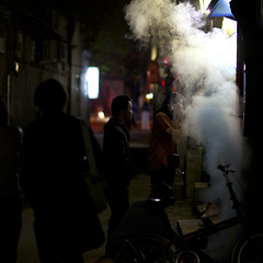 Steamed (Michael Steverson) Tags: street food canon cool alley smoke steam chinadigitaltimes 5d vendor chilly hutong markii ef85mmf12liiusm